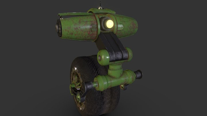 Old Riding Robot - Texture Challenge 3D Model