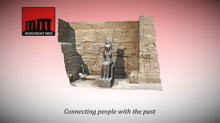 Statue of Sekhmet (Medinet Habu, Luxor) 3D Model
