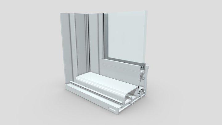 Reinforced Sliding Glass Door 3D Model