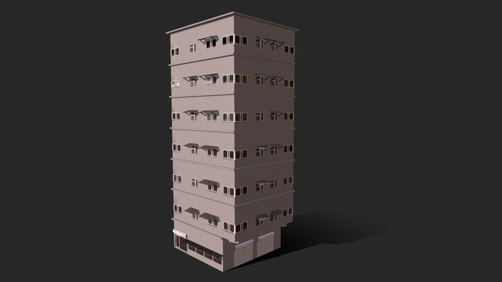 Asian apartment building /Sleeping Dogs Universe 3D Model