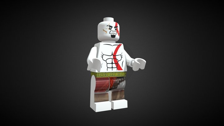 KRATOS Lego 3D Model