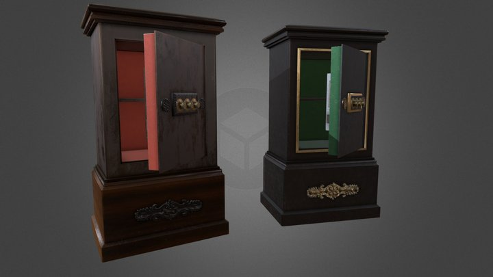 Antique safe (19th century ) 3D Model