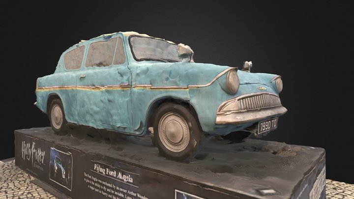 Flying Ford Anglia 3D Model