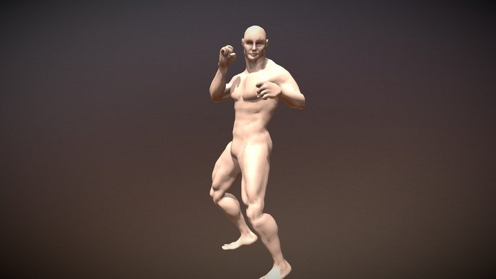 Free Rigged Male Basemesh 3D Model