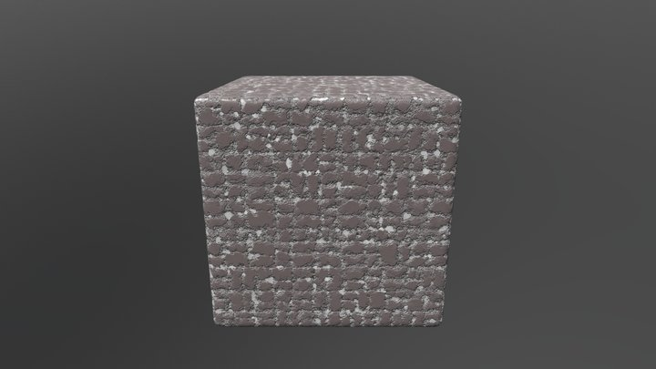 Gray seamless texture 3D Model