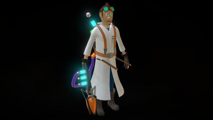 Shrunked Game Character 3D Model