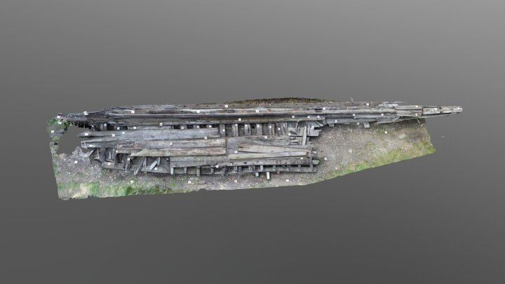 Toronto City Place 19th-Century Schooner 3D Model