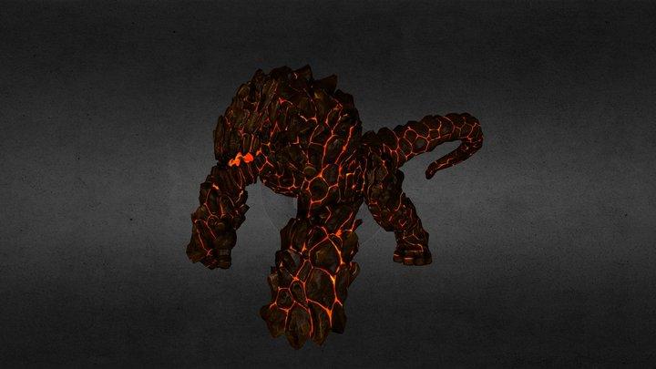 Fire Gorilla 3D Model