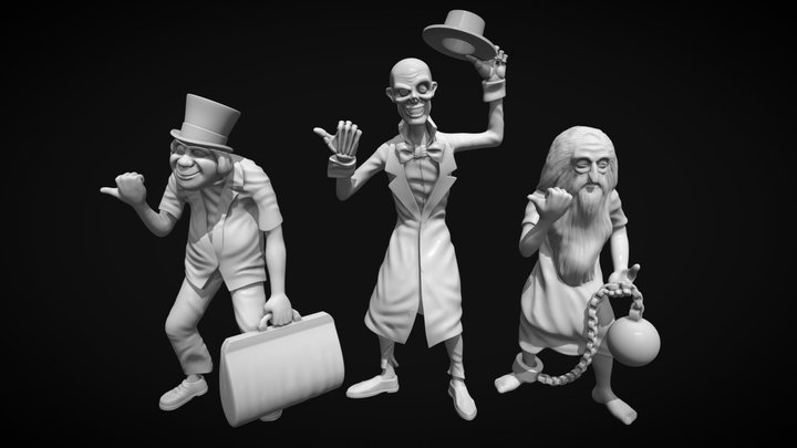 Hitchhiking Ghosts 3D Model