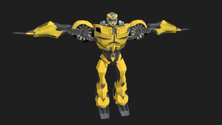 Robot Bee 3D Model