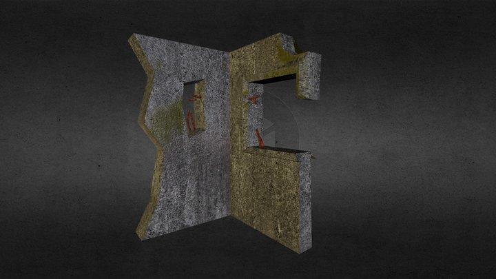 Ruin Wall 3D Model