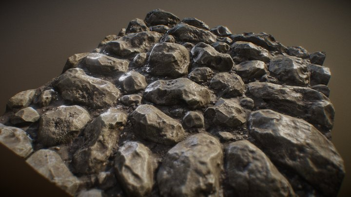 Stone Tiles 2 3D Model