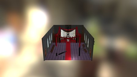 Castle Throne Room 3D Model
