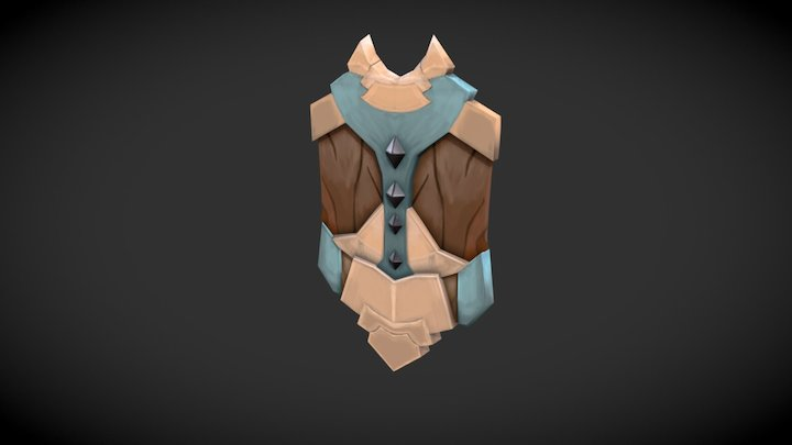 Hand Painted Shield 3D Model