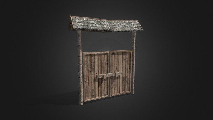 Wooden gate 3D Model