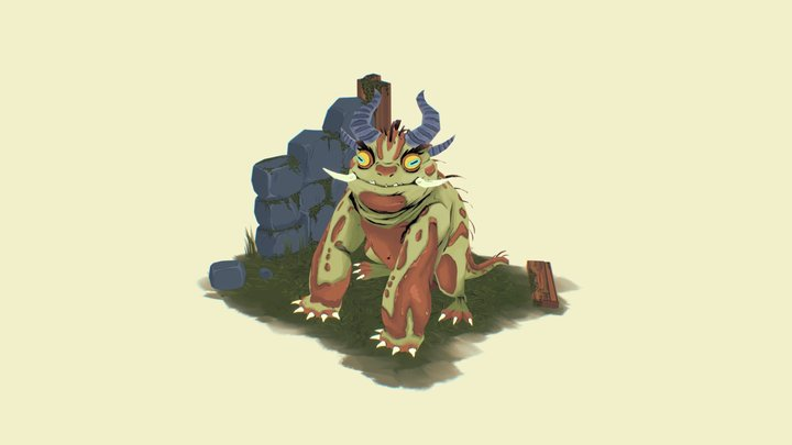 Critical Role: Devil Toad 3D Model