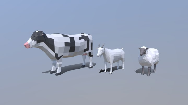 Domestic Animals Collection V2 3D Model