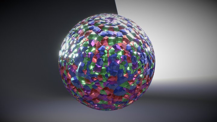 Abstractball PBR test 3D Model