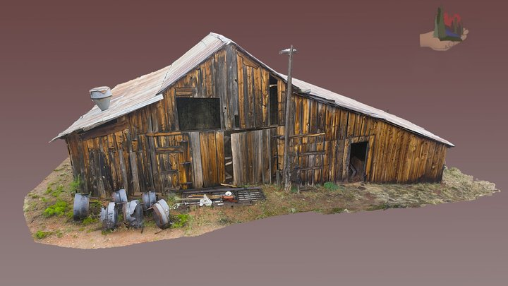 FS1592 Crescent Moon, Main Barn, Site 13 3D Model