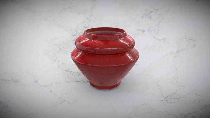Modern Crackle Ceramic Vase 3D Model