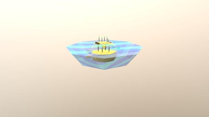 Floating Island Assignment - Treasure Island 3D Model