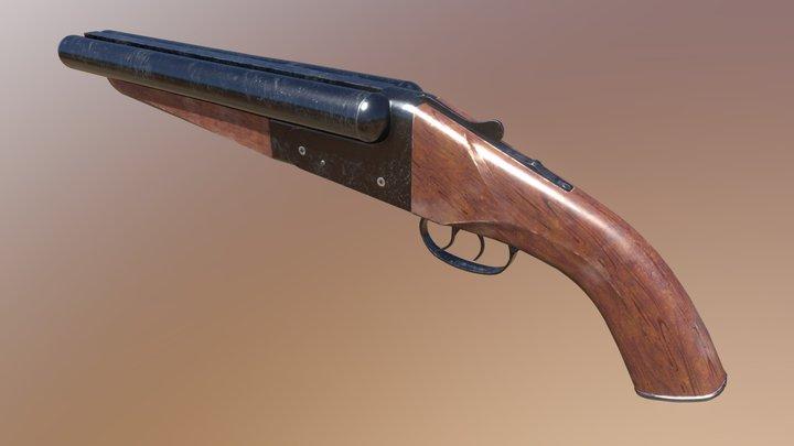 Mad Max's Double Barrel Shotgun 3D Model