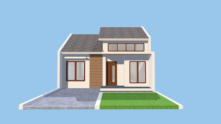 Sample Rumah Sederhana Minimalis Type54 3D Model