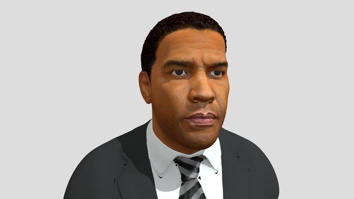 Denzel Washington Head Bust 3D Model