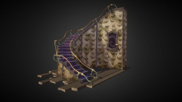 Spooky Stairs 3D Model