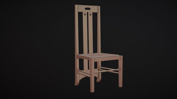 Mackintosh Low-Back Ingram Chair 3D Model