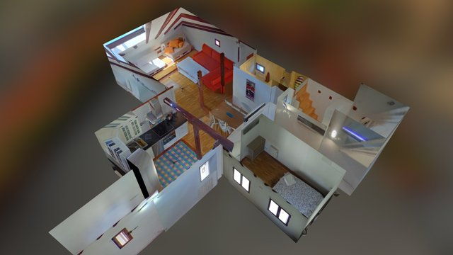 Multi room with rescaling and rotation attempt 1 3D Model