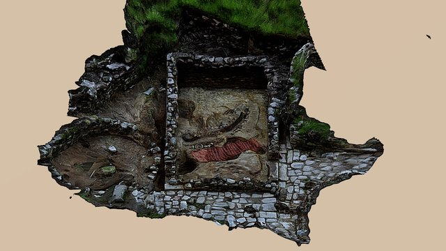 Building in Mergelina Area (Hillfort of Trega) 3D Model
