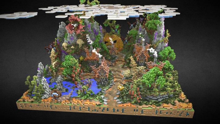 Minecraft - HCF spawn 3D Model