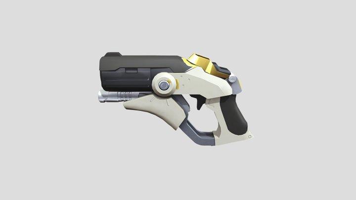 Mercy's Caduceus Blaster Textured 3D Model