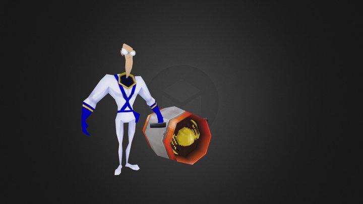 VGRemix Earthworm Jim pocket rocket 3D Model