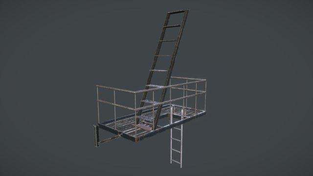 Fire Escape Bottom 3D Model