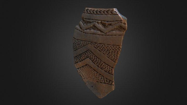 Guidoiro Areoso - Fragmento cerámica 3D Model