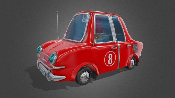 Cartoon Car - Tutorial Included 3D Model