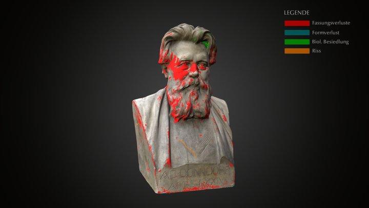Beispiel 3D-Kartierung -  Adolf von Donndorf 3D Model