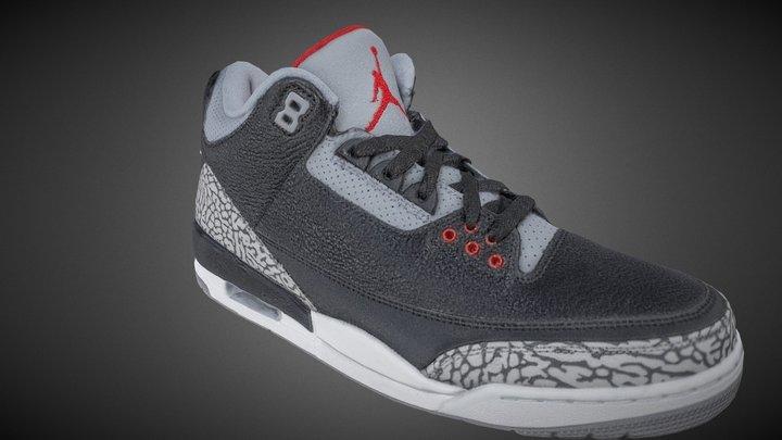Nike Jordan Retro 10 Sneakers 3D Model