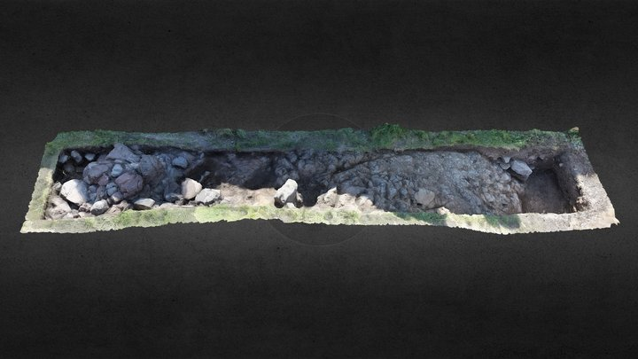 Exploring Castle Hill, Ardrossan - Trench N 3D Model