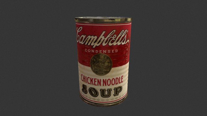 Old Canadian Campbell's Soup Can 3D Model