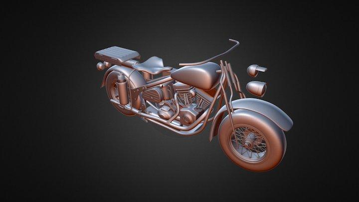 UnfinishedHarley 3D Model