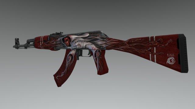 AK-47 | Contessa 3D Model