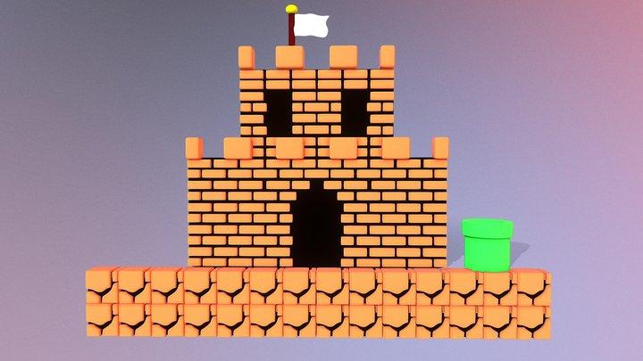 Mario Brick Castle 3D Model