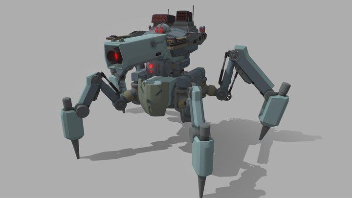 Spider Tank | Draft 3D Model