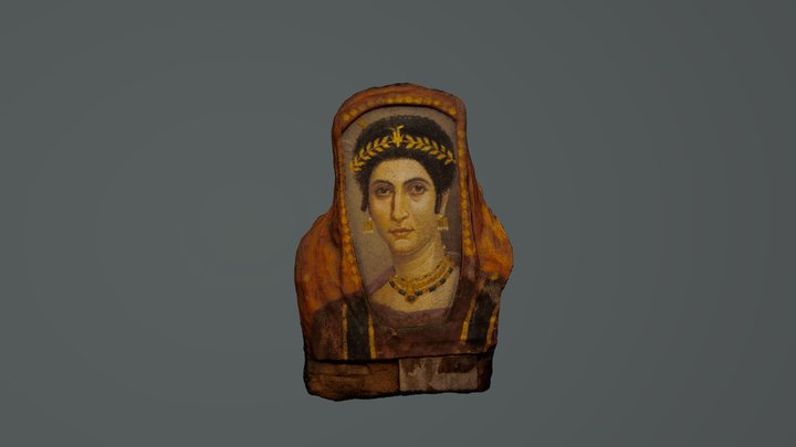 Isidora Mummy Portrait Model 1 Files 3D Model