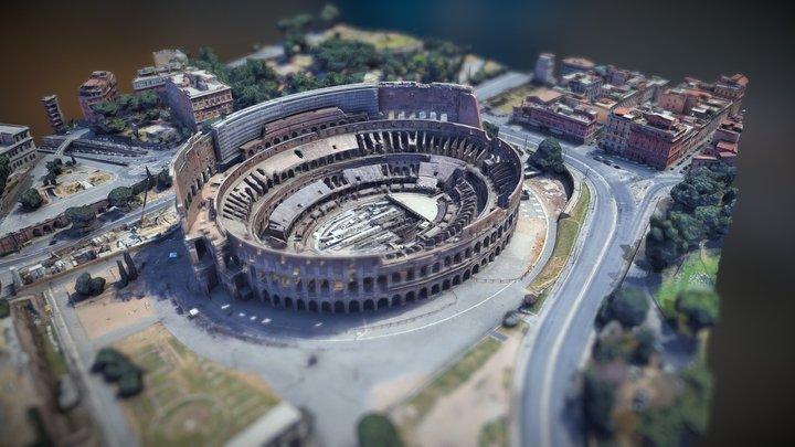 Colosseum City Model (Piazza del Colosseo) 3D Model