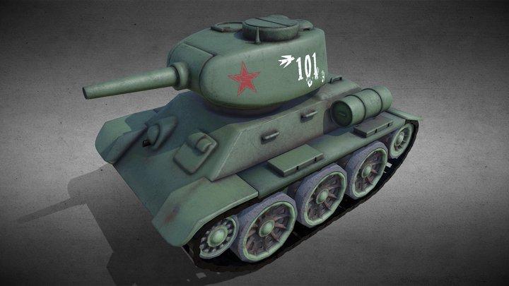Mini T34 Tank 3D Model