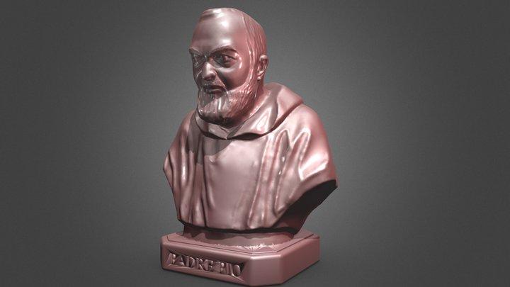 Padre Pio Bust 3D Model